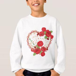 Vintage Roses Ornament and Heart 3 Sweatshirt