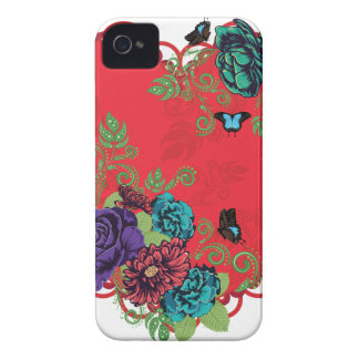 Vintage Roses Ornament and Heart iPhone 4 Covers