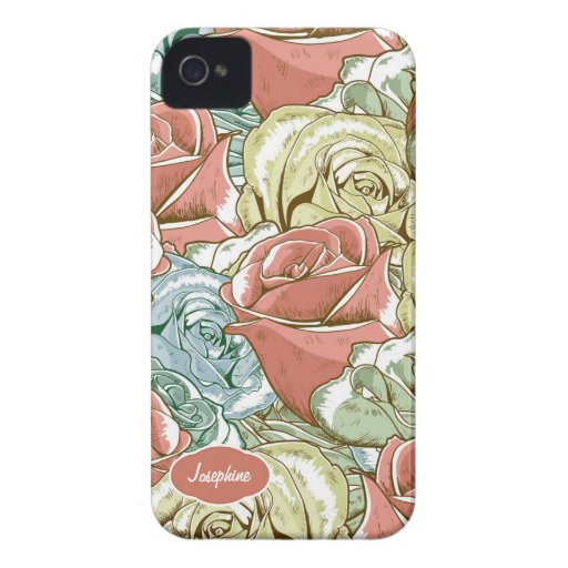 Vintage Roses Pattern Blackberry Bold Covers