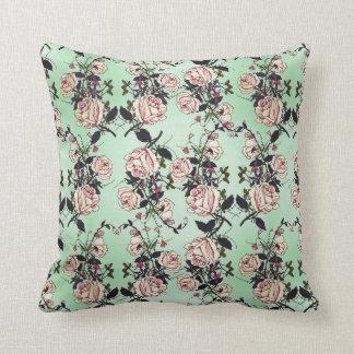 Vintage Roses Pattern Throw Pillow