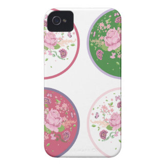 Vintage Roses Round Ornament 2 iPhone 4 Cover