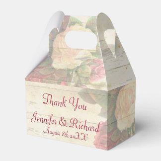 Vintage roses shabby chic custom wedding favor box