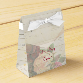 Vintage roses shabby chic custom wedding favor boxes