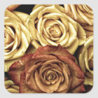 Vintage Roses Square Sticker