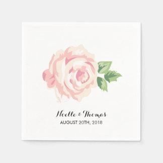 Vintage Roses Wedding Disposable Napkins