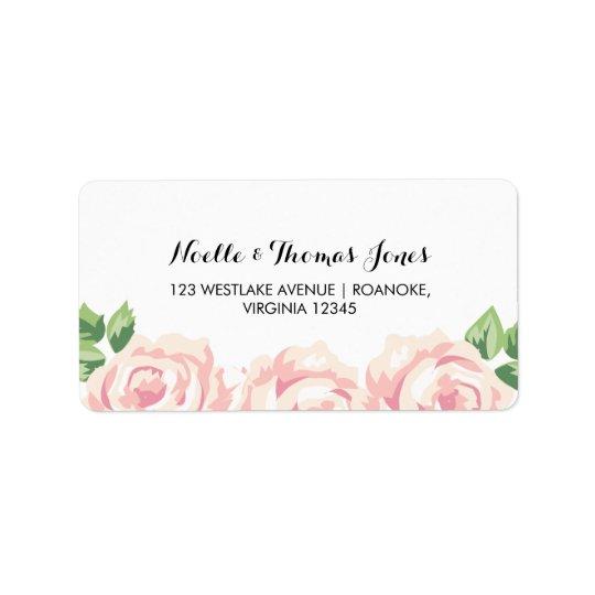 Vintage Roses Wedding Label