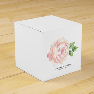 Vintage Roses Wedding Party Favor Box