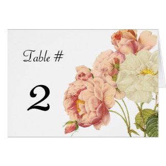 Vintage Roses Wedding Table Number