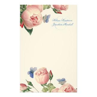 Vintage Roses Wedding Thank You Stationery