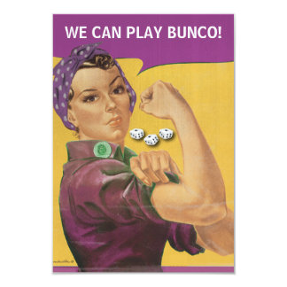 Vintage Rosie Bunco Invite