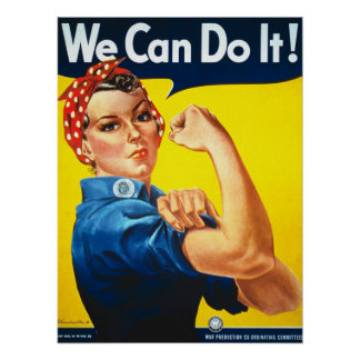 Vintage Rosie the Riveter War Poster