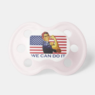 Vintage Rosie the Riveter We Can Do It Pacifier