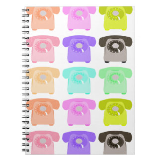 vintage rotary dial telephone notebook
