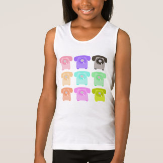 vintage rotary dial telephone tank top