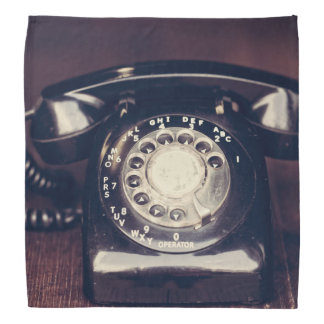 Vintage Rotary Phone Bandana