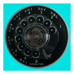 Vintage Rotary Phone Dial Poster