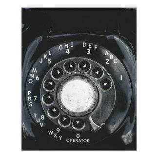 Vintage Rotary Phone Flyer