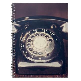 Vintage Rotary Phone Notebook