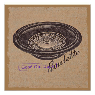 vintage roulette poster