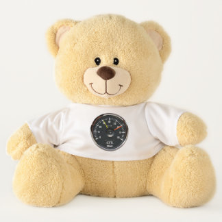 Vintage Round Analog Auto Tachometers Teddy Bear