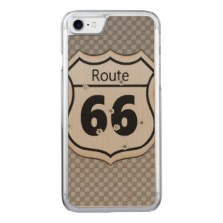 Vintage Route 66 Carved iPhone 7 Case