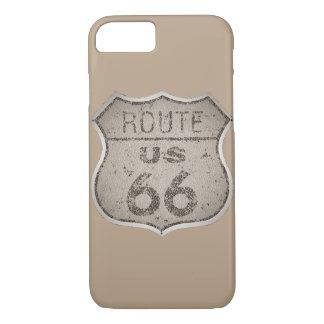 Vintage Route 66 Rustic Metal iPhone 7 Case
