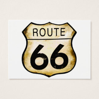 Vintage Route 66 Sign Business Card