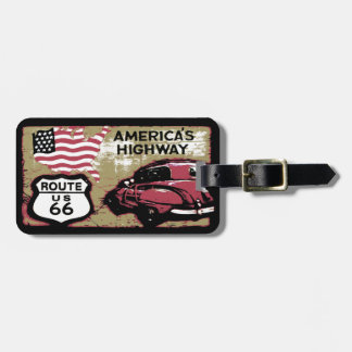 Vintage Route US 66 Luggage Tag