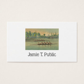 Vintage Rowers Crew Race Boat Race Business Card