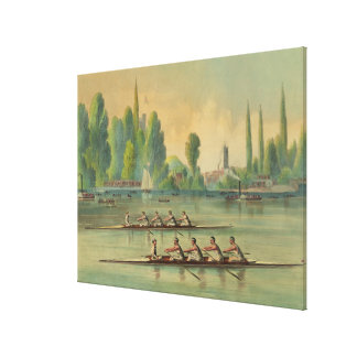 Vintage Rowers Crew Race Boat Race Canvas Print