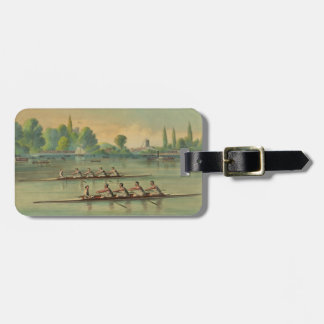 Vintage Rowers Crew Race Boat Race Luggage Tag