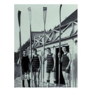 Vintage Rowing Team Postcard
