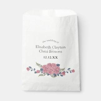 Vintage royal art deco roses painting favour bag