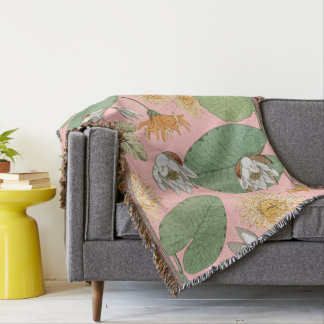 Vintage Royal Gardens Throw Blanket