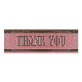 Vintage Royal Stripes Pink Dark Red Thank You Business Card Template