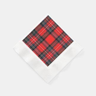 Vintage royal tartan disposable napkin