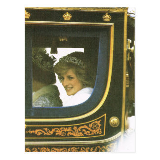 Vintage Royalty, Queen and Diana Postcard