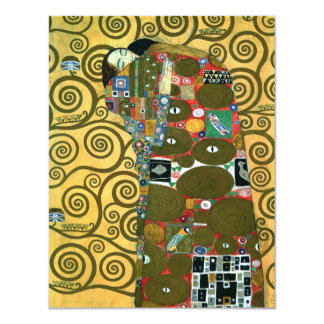 Vintage RSVP, Fulfillment (The Embrace) by Klimt Card