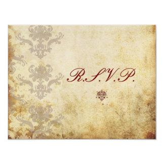 Vintage RSVPs require 5x7 wedding invitations