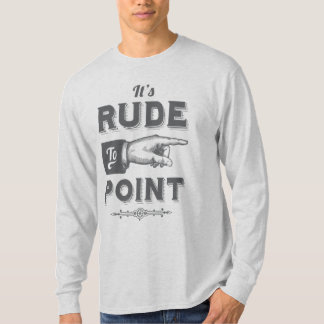 """Vintage """"Rude to Point"""" Victorian Illustration T-Shirt"""