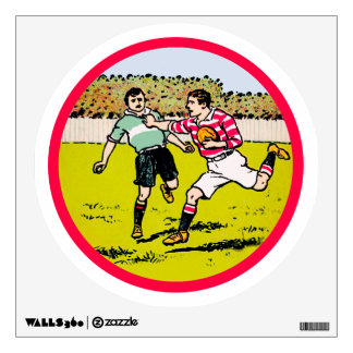 Vintage Rugby Wall Decal