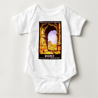 Vintage Ruins of Rome Italy Travel Baby Bodysuit