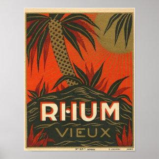 Vintage Rum Advertisement Poster