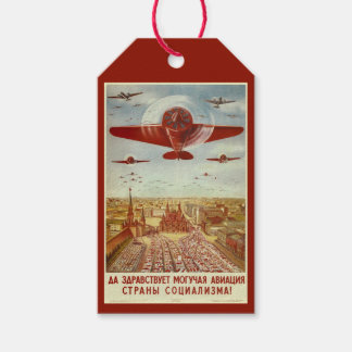 Vintage Russian Aviation custom gift tags Pack Of Gift Tags