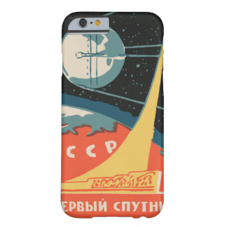 Vintage russian matchbox ads (CCCP rocket launch) Barely There iPhone 6 Case
