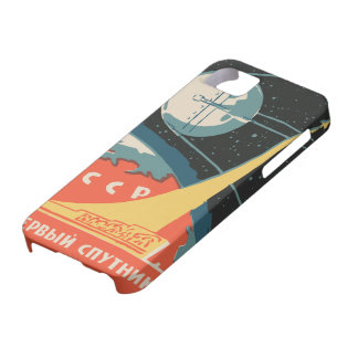 Vintage russian matchbox ads (CCCP rocket launch) Case For The iPhone 5