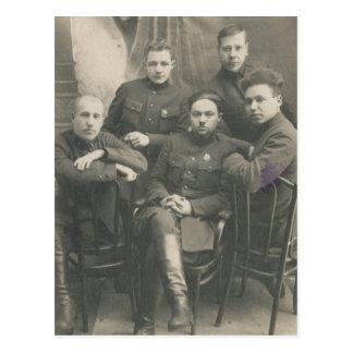 Vintage Russian Soldiers Postcard