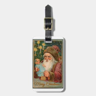 Vintage Russian St. Nicholas Luggage Tag