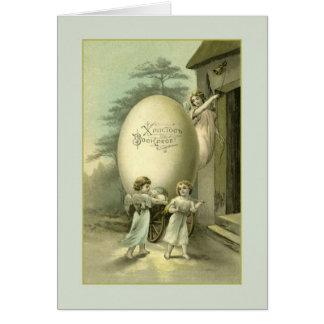 Vintage Russian / Ukrainian Angels Easter Card