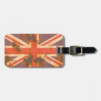 Vintage Rusted United Kingdom Flag Bag Tag